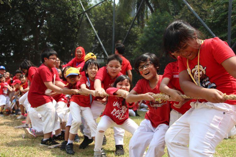 Perayaan HUT RI ke-73 di Sekolah HighScope Indonesia (SHI), Jakarta (16/8/2018)