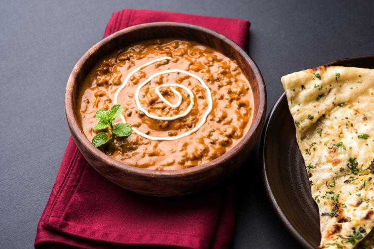 Ilustrasi sup krim kacang merah.