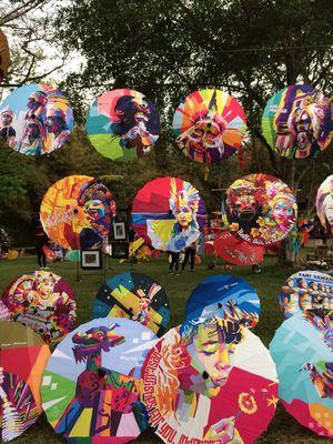 Festival Payung Indonesia 2018 di Candi Borobudur.