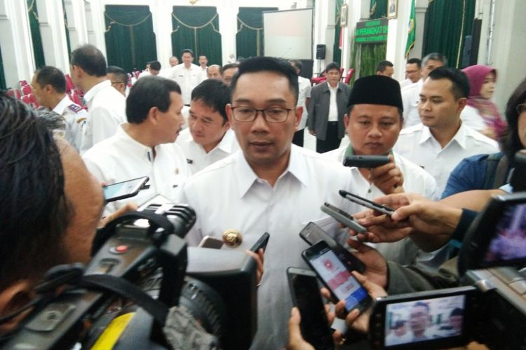 Gubernur Jabar Ridwan Kamil saat ditemui di Gedung Sate, Jalan Diponegoro, Rabu (12/9/2018).