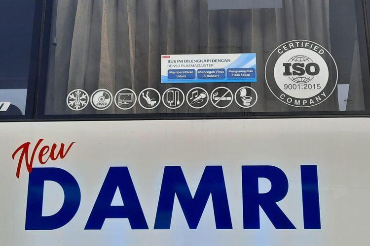 Bus Damri dengan Ion Plasmacluster