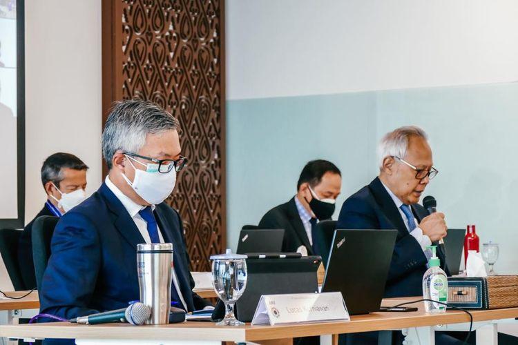 Jajaran petinggi PT Austindo Nusantara Jaya Tbk (ANJ) menggelar rapat umum pemegang saham tahunan dan paparan publik secara daring, Rabu (9/6/2021).
