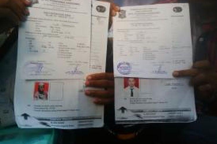 Surat keterangan sehat peserta diklat pecinta alam UIN Sunan Ampel Surabaya.