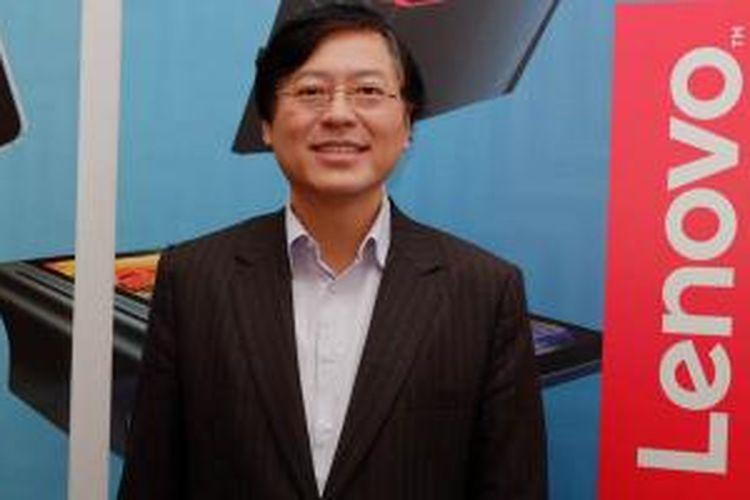 Chief Executive Officer Lenovo Yang Yuanqing dalam acara Lenovo at Consumer Electronic Show (CES) 2016, di Las Vegas, Amerika Serikat, Kamis (7/1/2015).