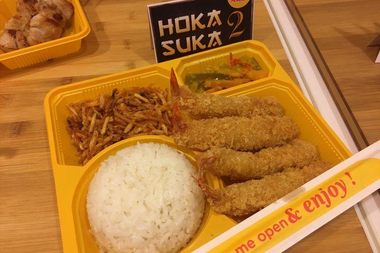 Menu baru dari Hokben Hoka Suka 2, perpaduan antara makanan jepang dengan makanan khas Indonesia, Selasa (20/2/2018).