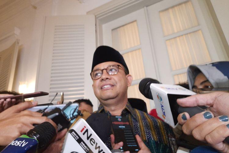 Gubernur DKI Jakarta Anies Baswedan di Pendopo, Balai Kota, Jakarta Pusat, Selasa (31/12/2019)