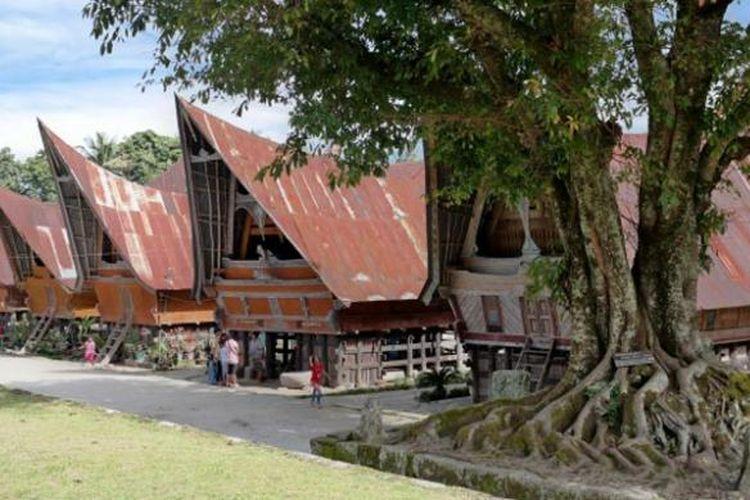 Kampung Siallagan di Pulau Samosir, Sumatera Utara.