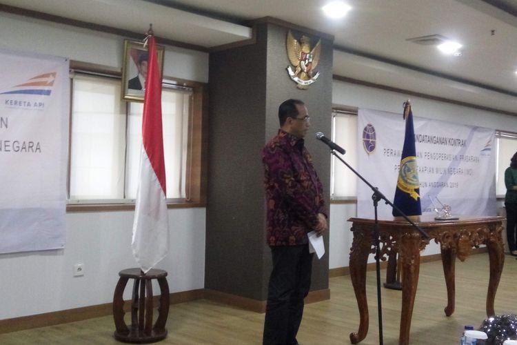 Menteri Perhubungan Budi Karya Sumadi di Kemenhub, Jumat (4/1/2019).