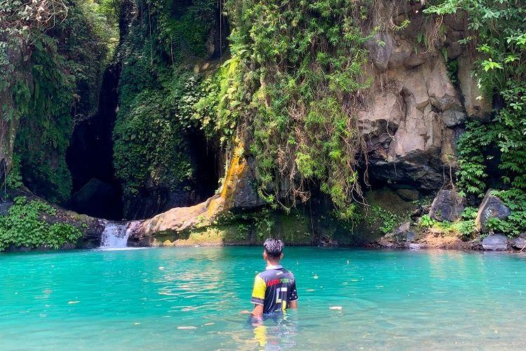 Tempat wisata Blue Lagoon di Buleleng, Bali.