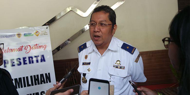 Direktur Pembinaan Keselamatan Perhubungan Darat Kementerian Perhubungan Mohamad Risal Wasal usai menghadiri pembukaan Pemilihan Abdiyasa Teladan Tingkat Nasional 2018 di Sentul, Bogor, Jawa Barat.