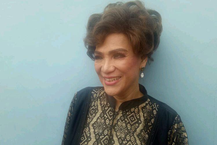 Artis peran Dorce Gamalama saat ditemui di kawasan Mampang, Jakarta Selatan, Rabu (20/3/2019).
