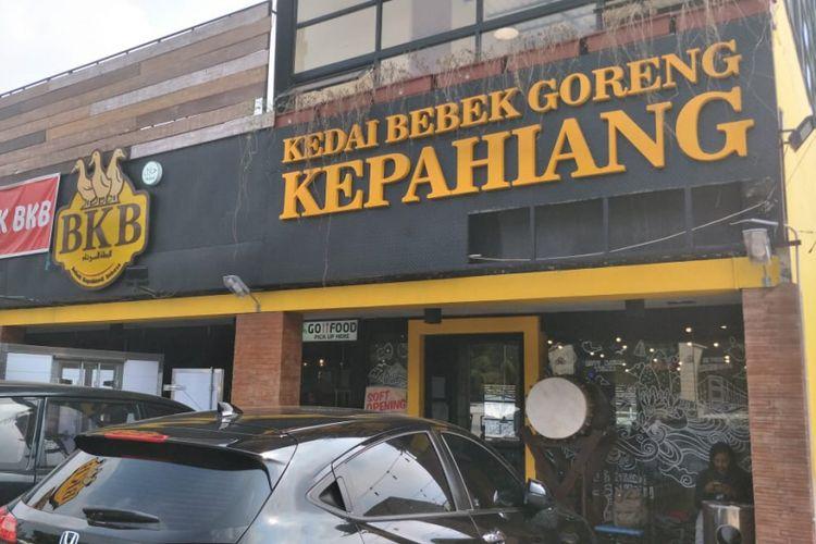 Rumah Makan Bebek Kepahiang Babase (BKB) di Jalan Fatmawati, Jakarta Selatan, Jumat (20/7/2018).