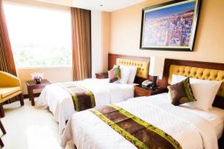 Kamar Q Grand Dafam Banjarbaru, Kalimantan Selatan. Q Grand Dafam Banjarbaru merupakan hotel ke-13 yang beroperasi di bawah jaringan Dafam Hotels.