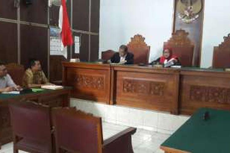 Sidang pertama praperadilan kasus RS Sumber Waras, Pengadilan Negeri Jakarta Selatan, Senin (14/3/2016).