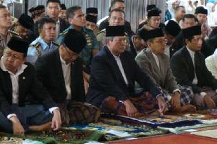 Presiden Susilo Bambang Yudhoyono saat Sholad Idul Adha di Masjid Istiqlal