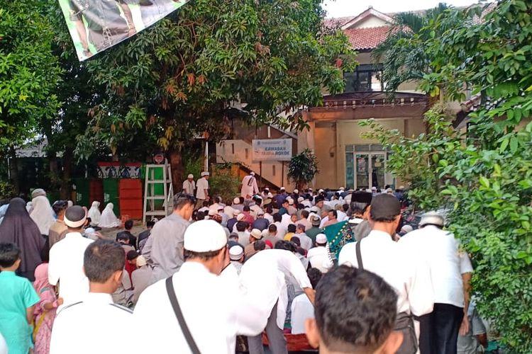 Shalat Idul Fitri di Kelurahan Depok Jaya, Selasa (4/6/2019).