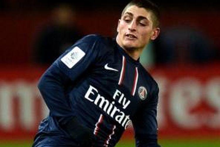 Gelandang muda Paris Saint-Germain (PSG), Marco Verratti.