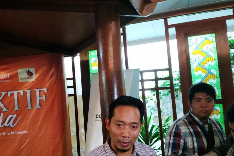 Kepala Bagian Protokol dan Humas Kementerian BUMN, Ferry Andrianto, usai mengisi diskusi di bilangan Tanah Abang, Jakarta Pusat, Sabtu (14/12/2019).