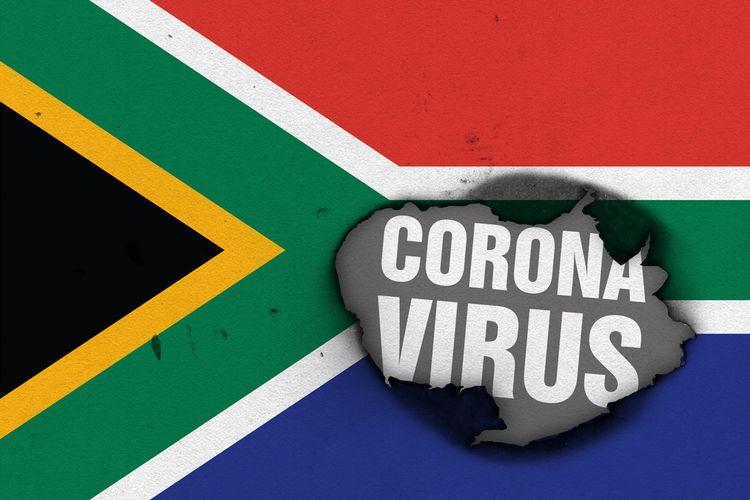 Ilustrasi virus corona di Afrika Selatan.