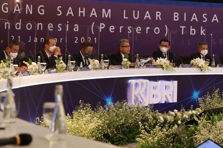 Rapat Umum Pemegang Saham Luar Biasa (RUPSLB) PT Bank Rakyat Indonesia (BRI), Kamis (21/1/2021) (Persero) Tbk