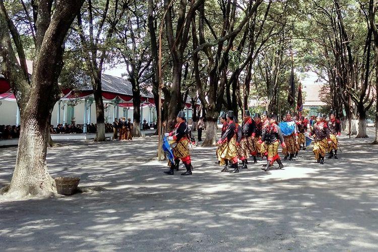 Suasana Keraton Surakarta Jawa Tengah saat acara jumenengan pada bulan April 2017 lalu.