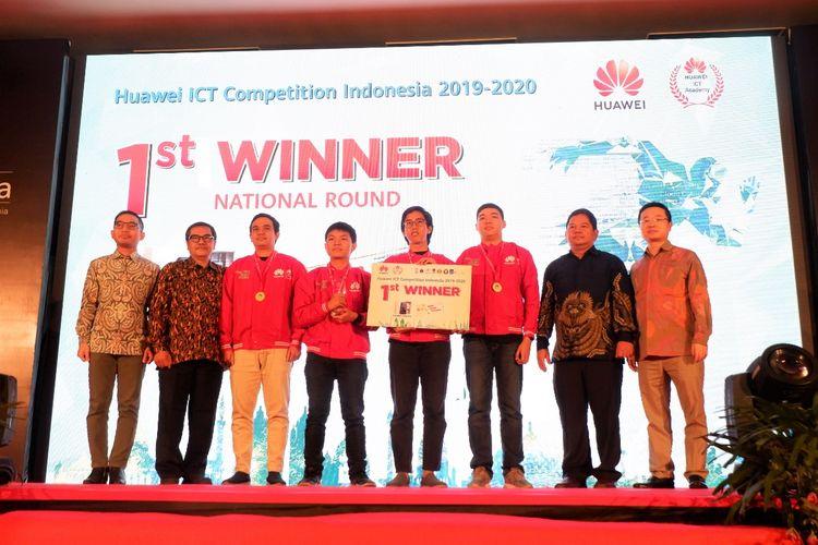 Tim A (Network) Institut Teknologi Bandung (ITB) berhasil menjuarai ajang Huawei ICT Competition 2019-2020 tingkat nasional di Universitas Gadjah Mada (UGM) , Yogyakarta (28/11/2019).