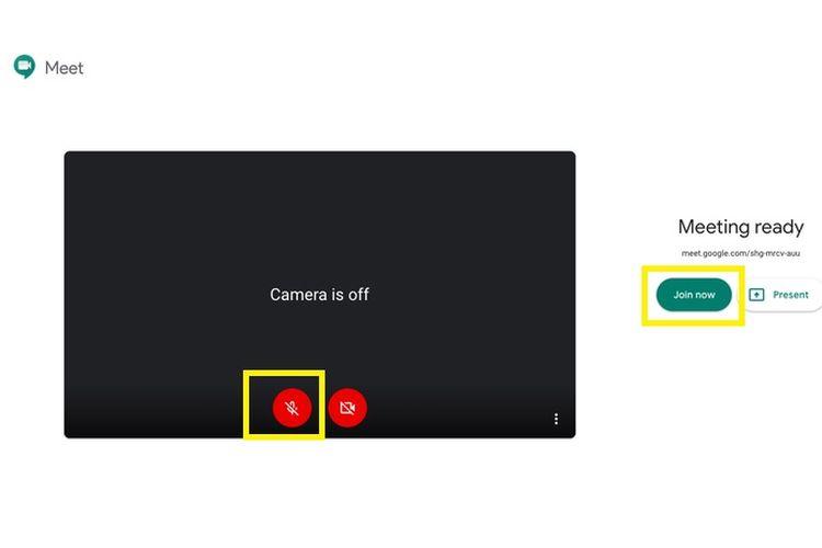 Cara mute mikrofon di Google Meet 3