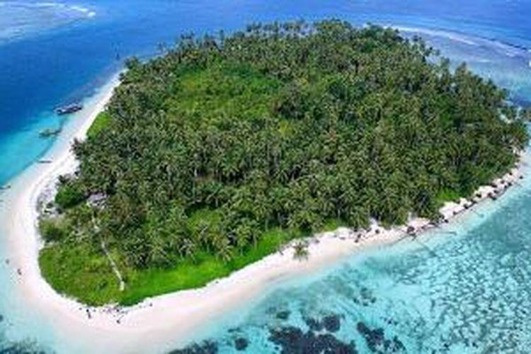 Pulau Tailana di Kepulauan Banyak, Kabupaten Aceh Singkil, Provinsi Aceh.