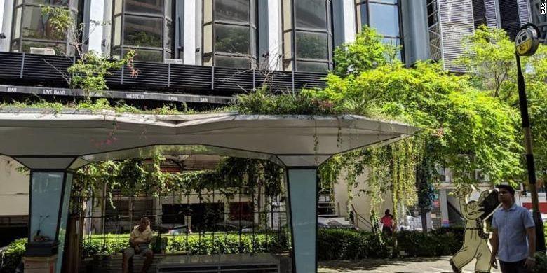 Halte yang juga dipasang atap hijau di Malaysia