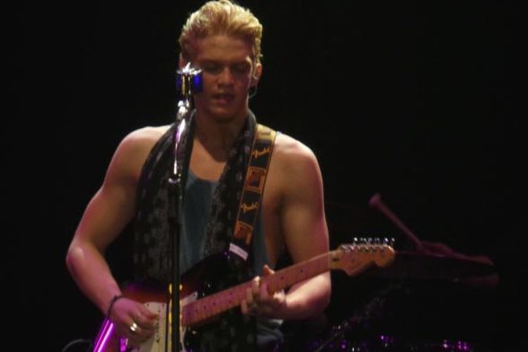 Penyanyi dari Australia, Cody Simpson tampil di Sounds Fair, Jakarta Convention Center, Senayan, Jakarta, Sabtu (25/10/2014) malam.