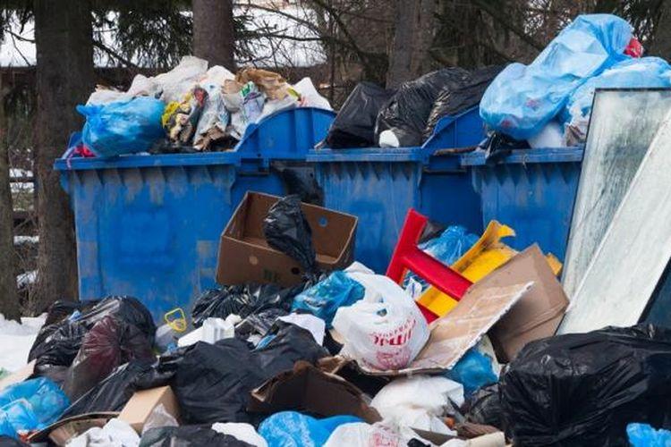 Ilustrasi sampah plastik