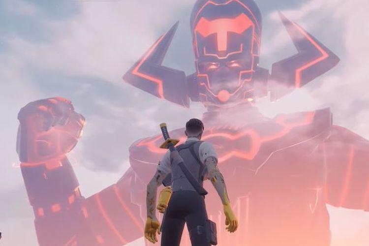 Pemain Fortnite dihadapkan dengan Galactus.