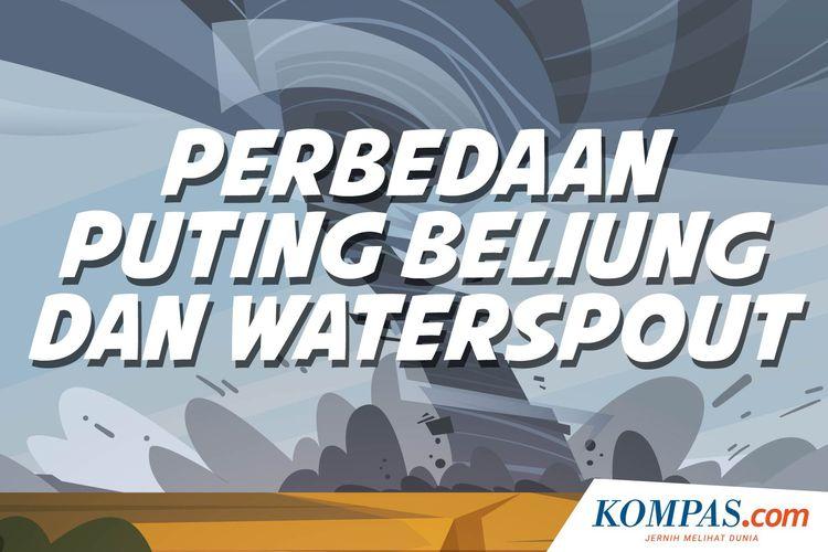 INFOGRAFIK: Perbedaan Puting Beliung dan Waterspout