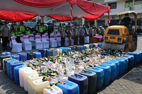 Jelang Pilkades di 44 Desa, Polres Semarang Razia Miras