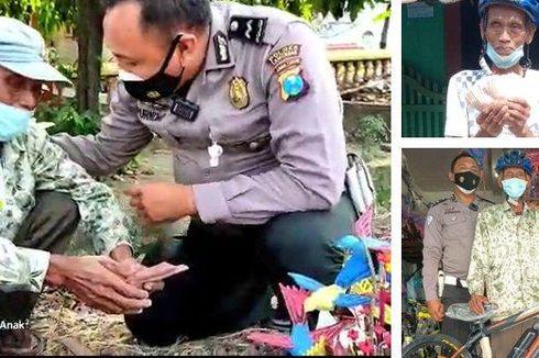 Kaget Didatangi Polisi Saat PPKM, Pedagang Ini Malah Diberi Uang dan Sepeda