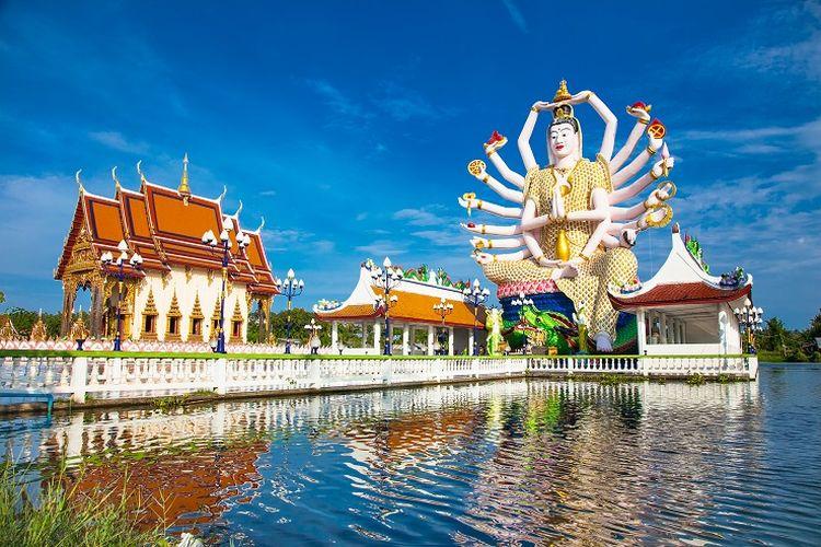 Ilustrasi Thailand - Wat Plai Temple di Koh Samui, Thailand (SHUTTERSTOCK/Aleksandar Todorovic).