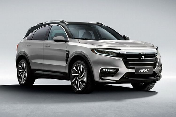 Hasil olah digital Honda HR-V terbaru yang akan meluncur pada tahun 2021.
