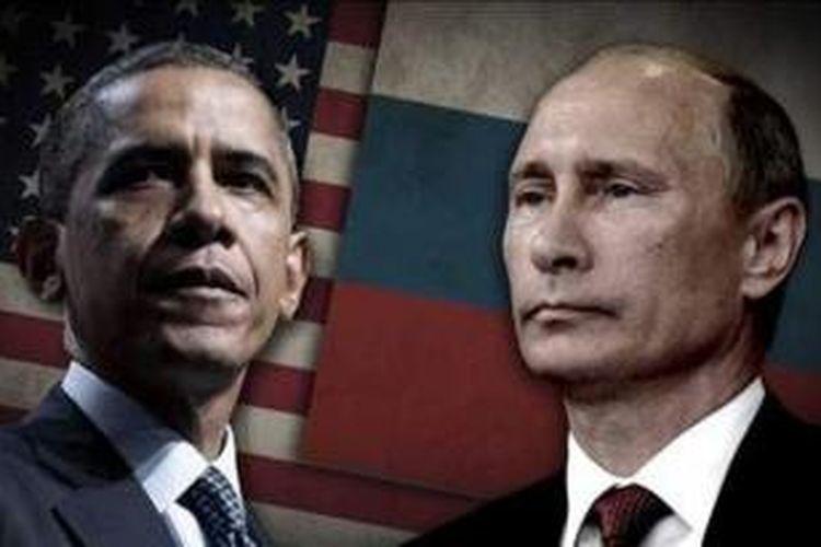 Presiden Barack Obama dan Presiden Vladimir Putin.