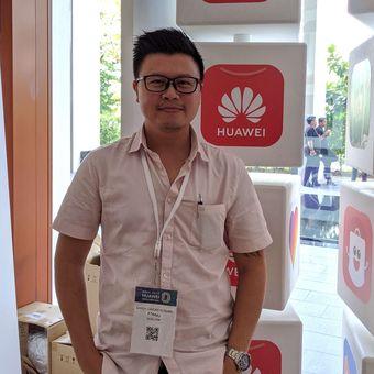 Digital Marketing Blibli Sandy Lamond Kusuma saat ditemui Kompas.com di acara Huawei Developer Day yang digelar di Singapura, Rabu (13/11/2019).