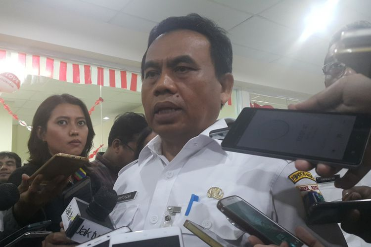 Sekretaris Daerah DKI Jakarta Saefullah di Balai Kota DKI Jakarta, Jalan Medan Merdeka Selatan.