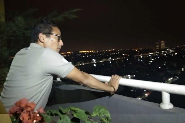 Wakil Gubernur DKI Jakarta Sandiaga Uno di Wisma Atlet, Kemayoran, Kamis (9/8/2018).