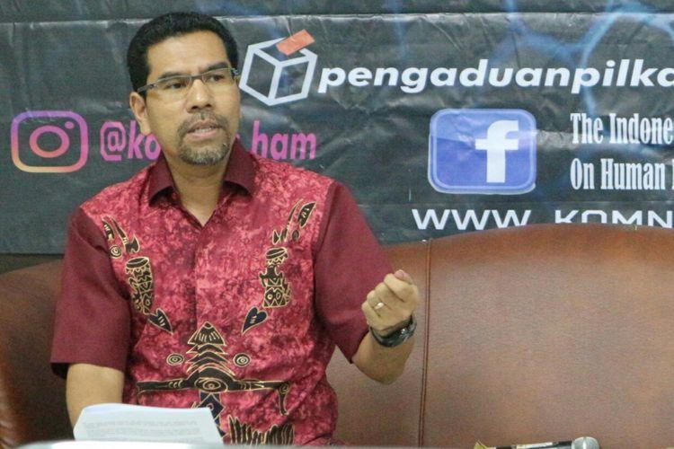 Komisioner Komisi Nasional Hak Asasi Manusia (Komnas HAM), Amiruddin Al Rahab ketika ditemui di Kantornya, Jakarta, Rabu (9/5/2018).