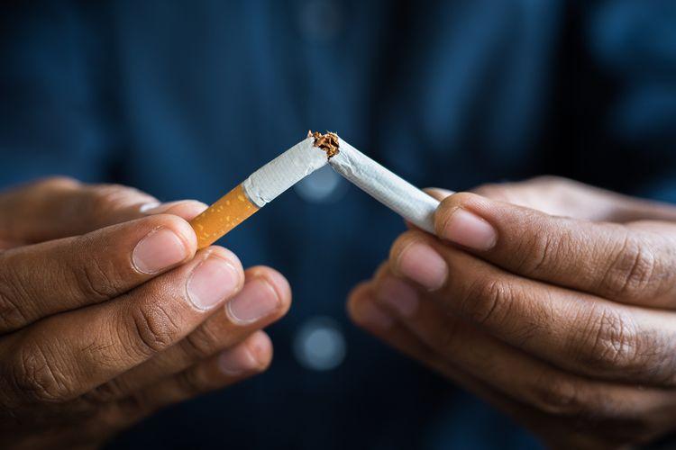 Ilustrasi berhenti merokok.