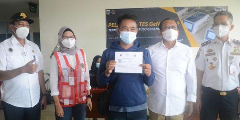 Kementerian Perhubungan mulai memberikan gratis pengecekan GeNose di Terminal Pulogebang (7/2/2021).