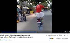 Viral, Video Kakek-kakek di Kotim Atraksi Sambil Berdiri di Atas Motornya