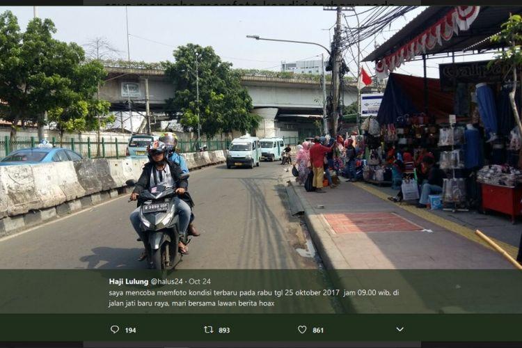 Kawasan Jati Baru, Tanah Abang, Jakarta Pusat, Rabu (25/10/2017), menurut Wakil Ketua DPRD DKI Jakarta Abraham Lunggana alias Lulung.