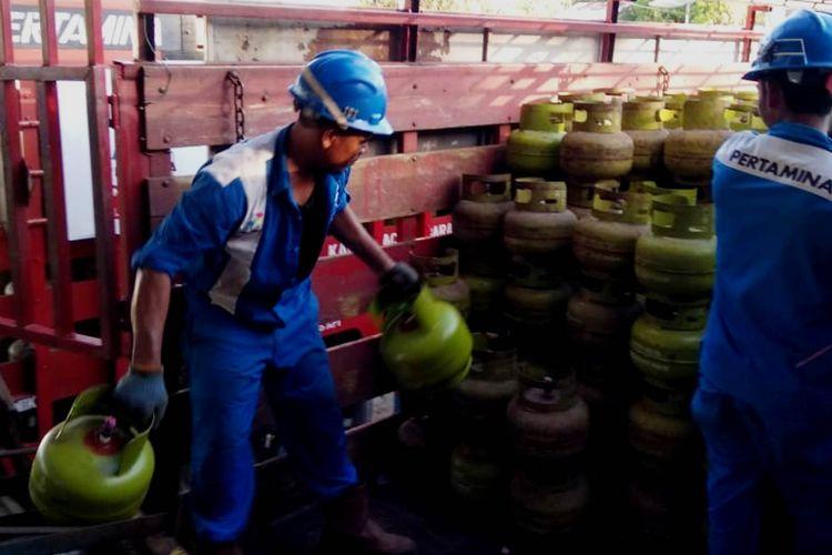 Pertamina Salurkan 430.000-an elpiji ke 9.150 pangkalan di Sumut mulai awal Ramadhan, Rabu (15/5/2019)