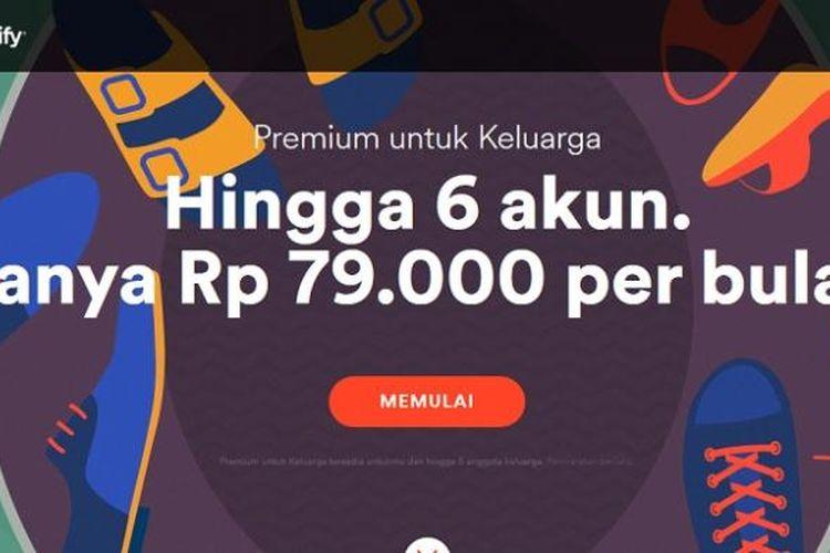 Paket keluarga Spotify Premium turun harga, hanya Rp 79.000 per bulan untuk maksimal enam anggota.