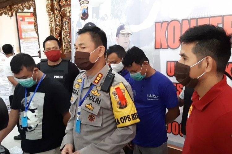 Kapolrestabes Semarang, Kombes Pol. Auliansyah Lubis saat gelar perkara di Mapolrestabes, Semarang, Jumat (22/5/2020).