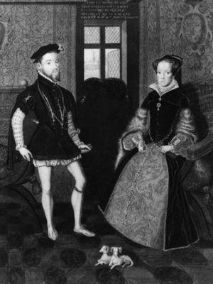 Ratu Mary I dan suaminya, Philip. (History Extra)